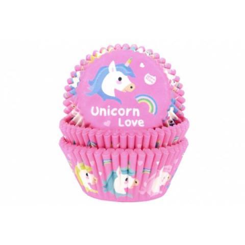 House of Marie Cupcakevormpjes Unicorn - 50 stuks