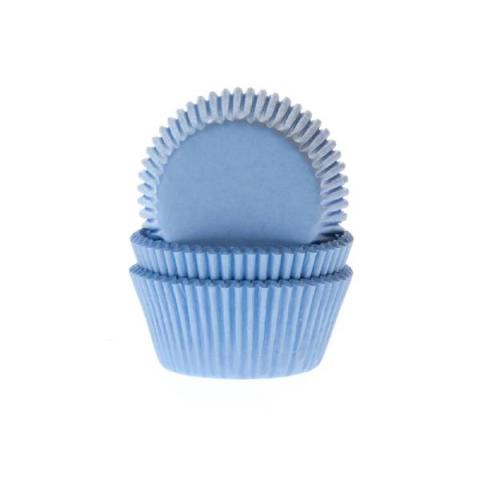 House of Marie Cupcakevormpjes - Blauw 50 stuks
