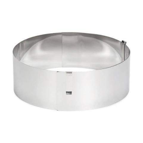 Patisse Verstelbare taartring RVS rond - Ø13-31 cm