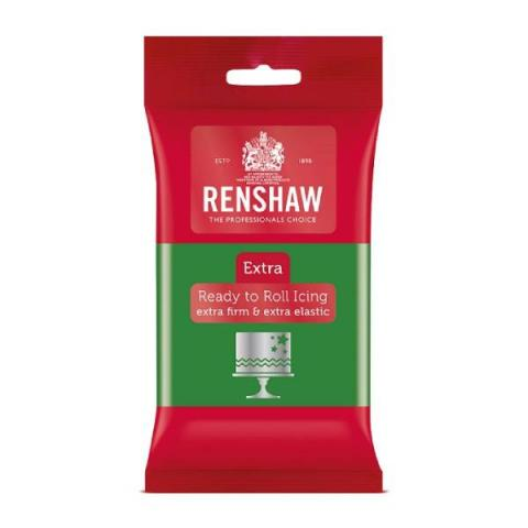 Renshaw Rolfondant Extra - Groen 250 g