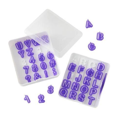 Wilton Fondant uitsteker set Alfabet en cijfers
