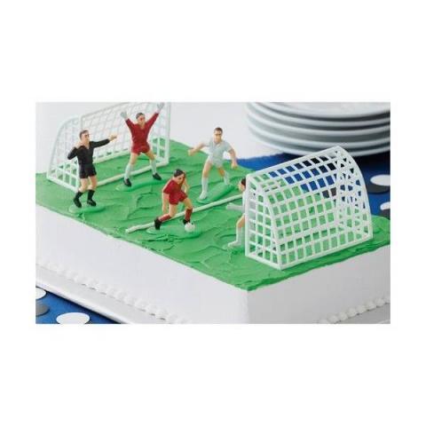 Wilton Taartdecoratie Voetbal set 7-delig