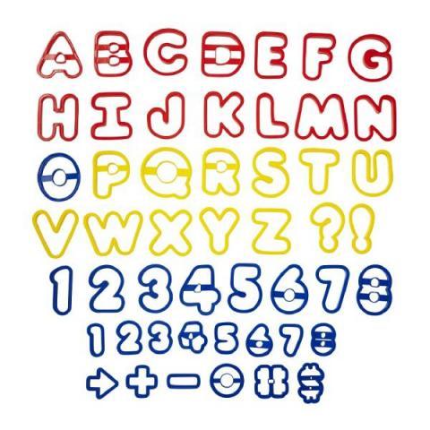 Wilton Koekjes uitsteker set ABC en 123 - 50 stuks