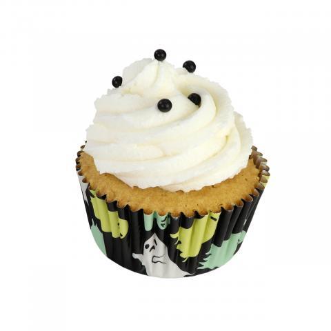 PME Cupcakevormpjes folie - Halloween spook 30 stuks