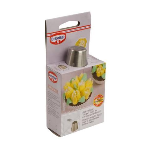 Dr. Oetker Spuitmondje tulpen 25 mm met 4 wegwerp spuitzakken