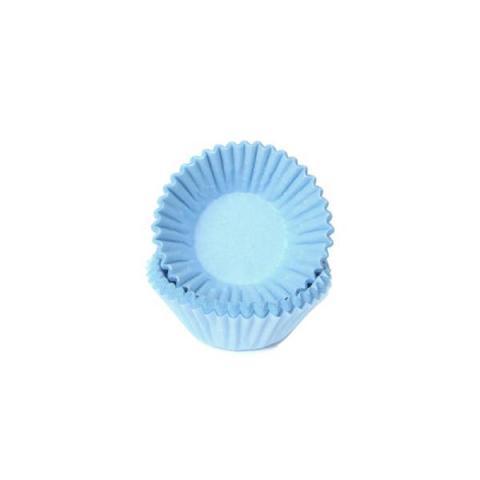 House of Marie Bakvormpjes chocolade/petit four - Pastel blauw 100 stuks