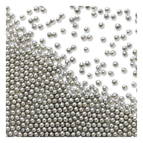 PME Silver Sugar pearls - 2,3 mm 25 g