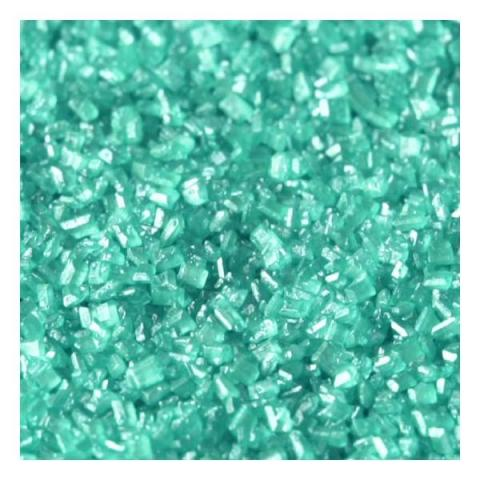 Rainbow Dust Sugar crystals - Pearlescent turquoise