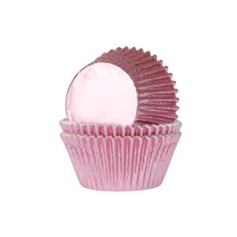 House of Marie Cupcakevormpjes folie - Baby roze 24 stuks