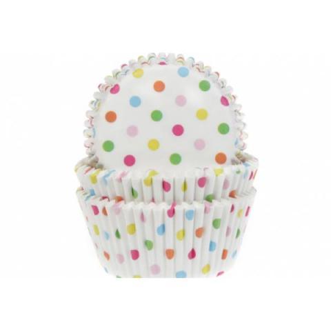 House of Marie Cupcakevormpjes Confetti - 50 stuks