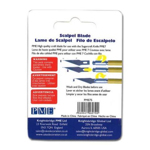 PME Modelleer gereedschap - Spare scalpel blades 5 stuks