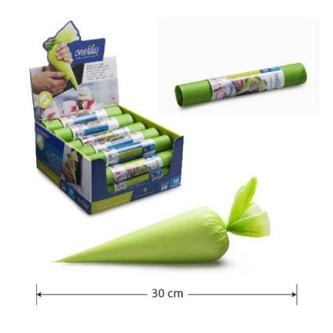 One Way Plastics Wegwerp spuitzakken - Groen 30x17 cm 10 stuks
