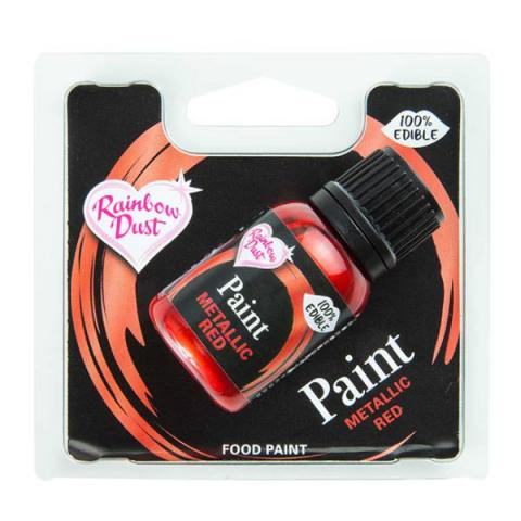 Rainbow Dust Metallic food paint - Red