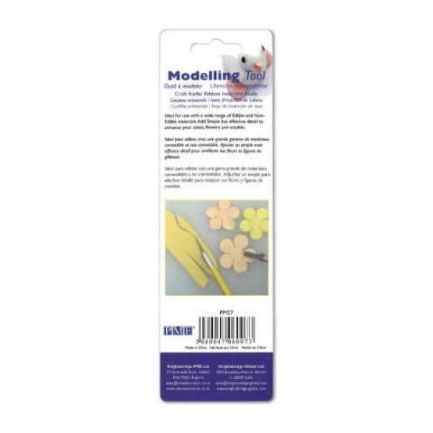PME Modelleer gereedschap - Sugarcraft knife & ribbon insertion blade
