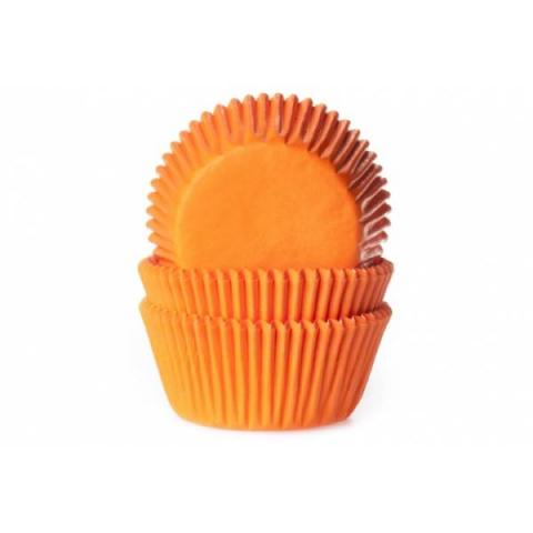 House of Marie Cupcakevormpjes - Oranje 50 stuks