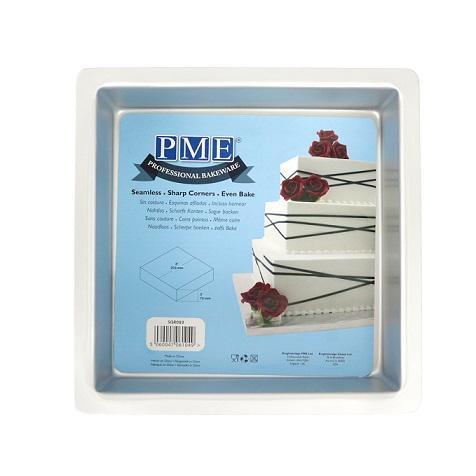 PME Taartpan vierkant - 20,3x20,3x7,6 cm