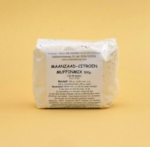 Molen de Hoop - Muffinmix citroen-maanzaad 500 g