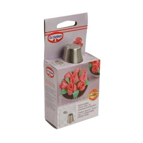 Dr. Oetker Spuitmondje rozen 25 mm met 4 wegwerp spuitzakken