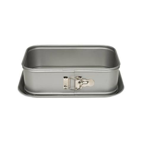 Patisse Springvorm rechthoekig Silver top - 28x18 cm
