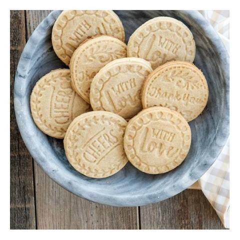 Nordic Ware Cookie stamps - Greetings cast